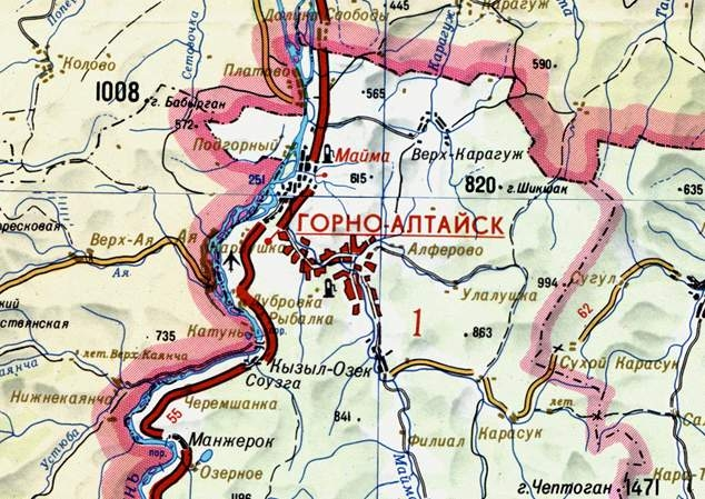 Карта-схема г. Горно-Алтайск